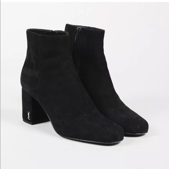 e9be59732b1 Yves Saint Laurent Shoes | Ysl Suede Ankle Booties | Poshmark